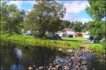 View of campsite from the river